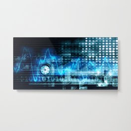 Medical Technology in the Healthcare Industry Concept Metal Print