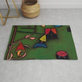 """Paul Klee """"Pflanze und Fenster Stilleben (Still life with Plant and Window)"""" Rug"""
