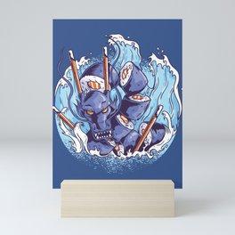 Sushi Dragon Japanese Art Mini Art Print