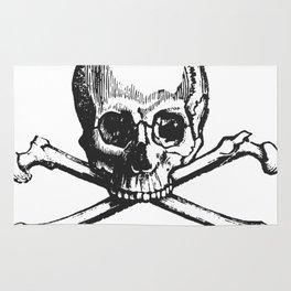 Skull and bones pirate Rug