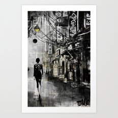 down CHINATOWN Art Print