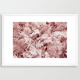 Fern Bush Blush Pink | Bedroom Art Framed Art Print
