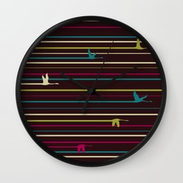 Duck Trails Wall Clock