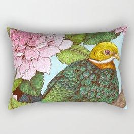 Whistling Fruit Dove in Spring Rectangular Pillow