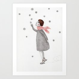 Picture Four:  The Snowflake Art Print