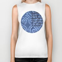 damask Biker Tanks featuring Industrial Damask by Jason Simms