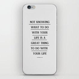 Notknowing iPhone Skin