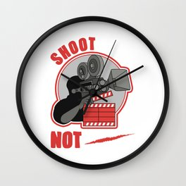 Shoot Film Not Guns Pacifist Filmmaker Director Wall Clock