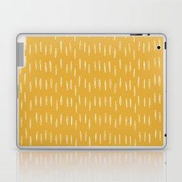 Raindrop Abstract Boho Pattern, Yellow Laptop & iPad Skin