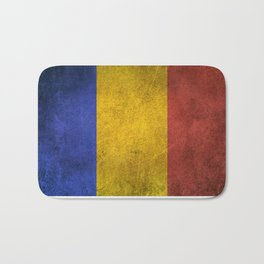Old and Worn Distressed Vintage Flag of Romania Bath Mat