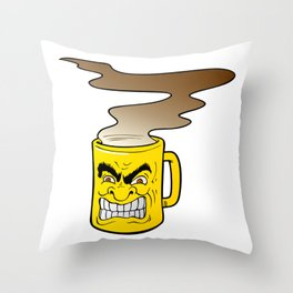 Fierce Coffee Throw Pillow