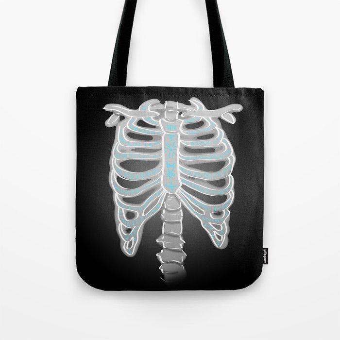 Supernatural Sam Dean Winchester Castiel Ribs Tote Bag