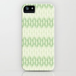 Green and yellow waves iPhone Case