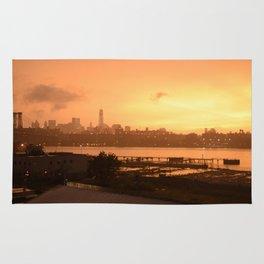 Manhattan sunset Rug