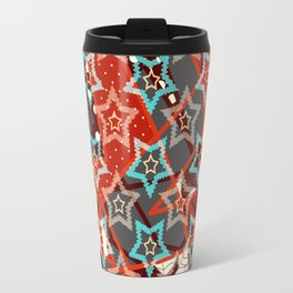 Retro . Christmas stars . Travel Mug