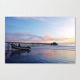 Dory Sunset Newport Beach Pier Canvas Print
