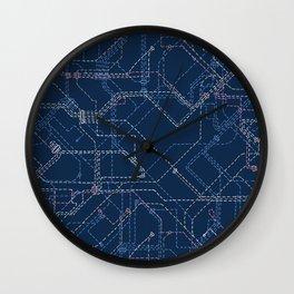 Public Transport Network Wall Clock