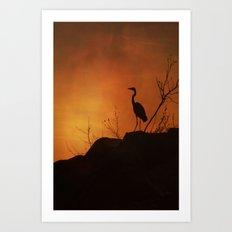 Night silhouette Art Print