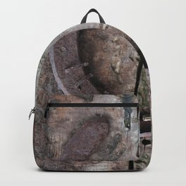 Rusted Horseshoe on Weathered Wood rustic decor Backpack