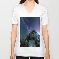 milky way V-neck T-shirts featuring Milky Way Rock by 2sweet4words Designs
