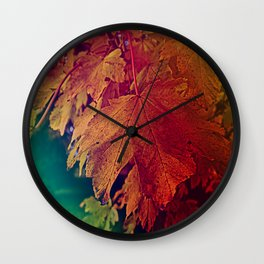 colours of autumn Wall Clock