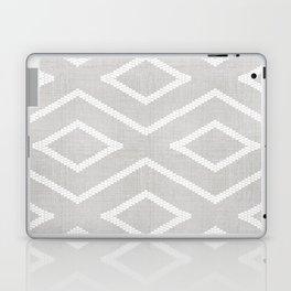 Stitch Diamond Tribal Print in Grey Laptop & iPad Skin