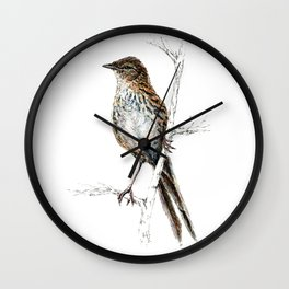 Matata, New Zealand Fernbird Wall Clock