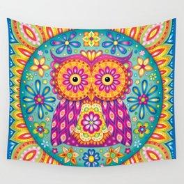 Owl Mandala Wall Tapestry