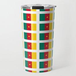 flag of cameroun -cameroun,cameroon,Cameroonian,camerounais,camerun, yaoundé,douala. Travel Mug
