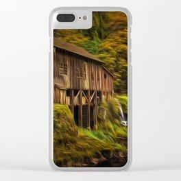 Baroque Cedar Grist Mill Clear iPhone Case