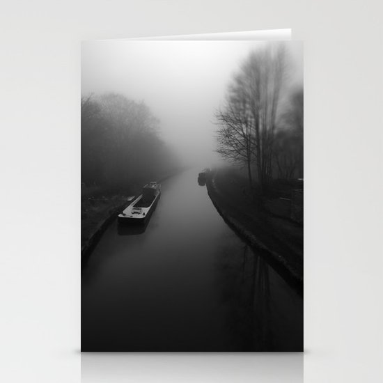 Canal fog Stationery Cards