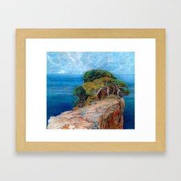 Sea View of Lacroma landscape coastline painting by Emilie Mediz-Pelikan Framed Art Print