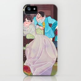 A lover's spat iPhone Case