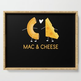 Mac & Cheese Food Milk Serving Tray