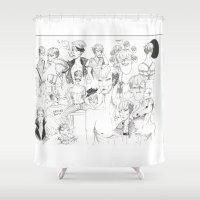 shingeki no kyojin Shower Curtains featuring ? ?? - Jean Kirschtein by UNDER BLACK