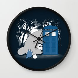 Curious Forest Spirits Wall Clock