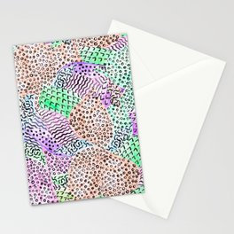 Modern abstract watercolor hand drawn pattern Stationery Cards