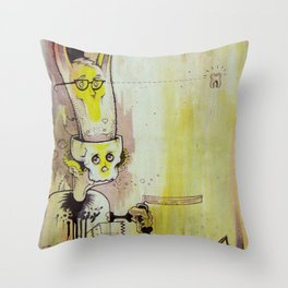 Deathy By Fresh Toast Throw Pillow