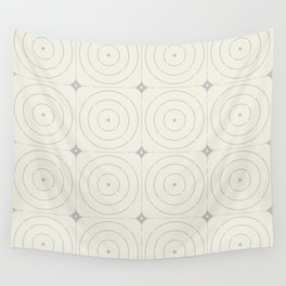 Creamy Bullseye Wall Tapestry