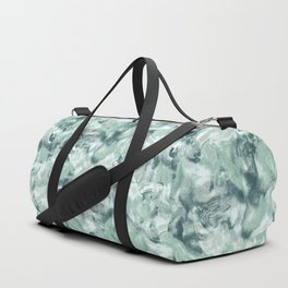 Marble Mist Green Grey Duffle Bag