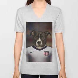 Worldcup 2014 : America - American Stafford Terrier Unisex V-Neck