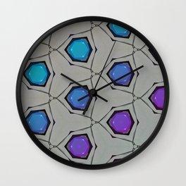 Minimal Aqua Magenta Circle Gradient Wall Clock