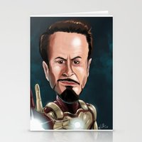 robert downey jr Stationery Cards featuring Robert Downey Jr by Carrillo Art Studio
