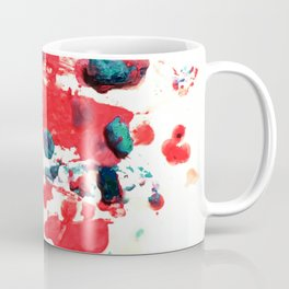 Red Chaos - Abstract Melted Crayon Art Coffee Mug