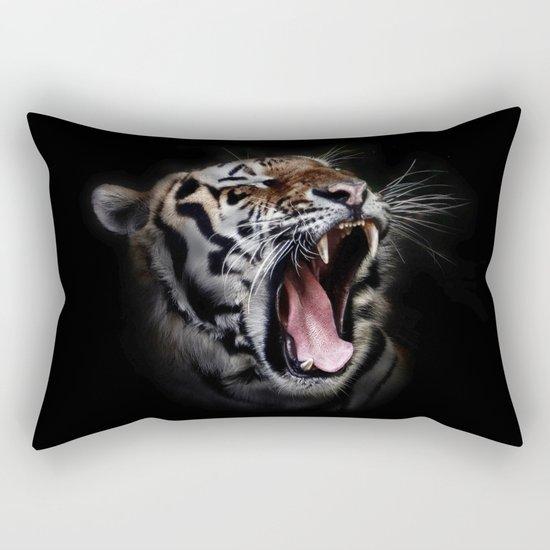 Ferocious Tiger Rectangular Pillow