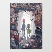 over the garden wall Canvas Prints featuring Over the Garden Wall by KEL H