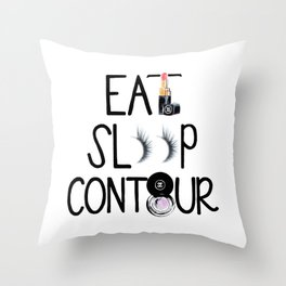 EAT SLEEP CONTOUR Throw Pillow