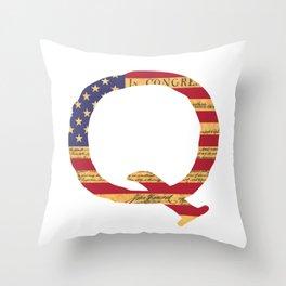 Qanon The Great Awakening MAGA USA WWG1WGA Declaration of Independence Shirt Throw Pillow