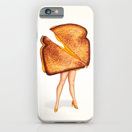 Grilled Cheese Sandwich Pin-Up iPhone Case