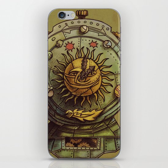 Cosmic Clock iPhone & iPod Skin